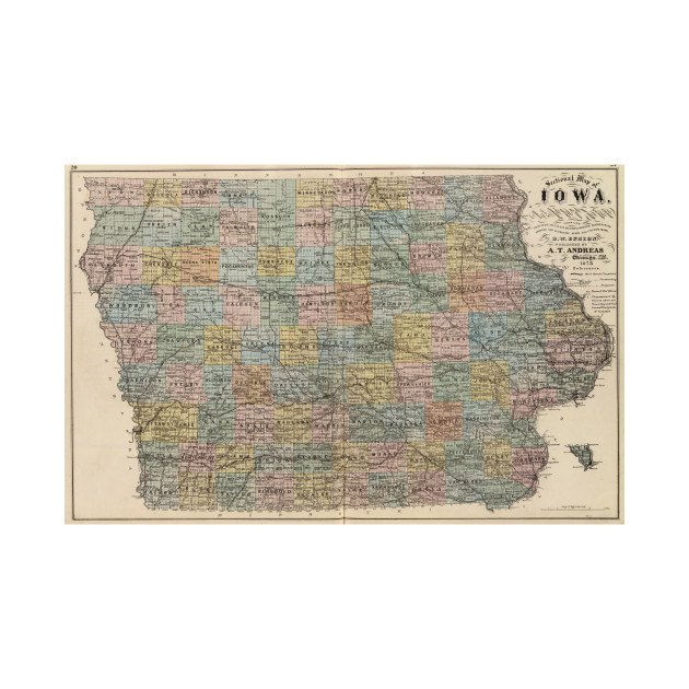 Vintage Map Of Iowa Iowa Map TShirt TeePublic - Vintage iowa map