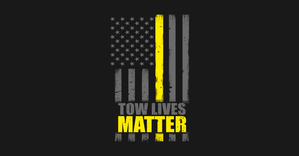 tow lives matter thin yellow line flag