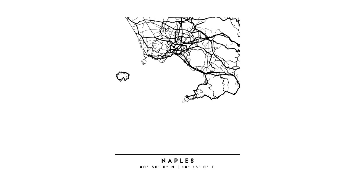 Map Of Italy Black And White.Naples Italy Black City Street Map Art By Deificusart
