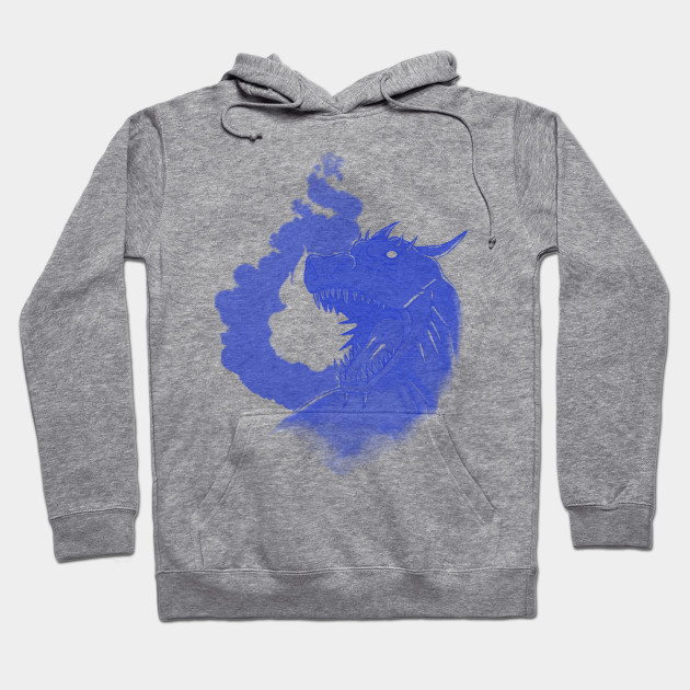 f24440a07 Dragon and Flame-Blue Version - Dragons - Hoodie   TeePublic