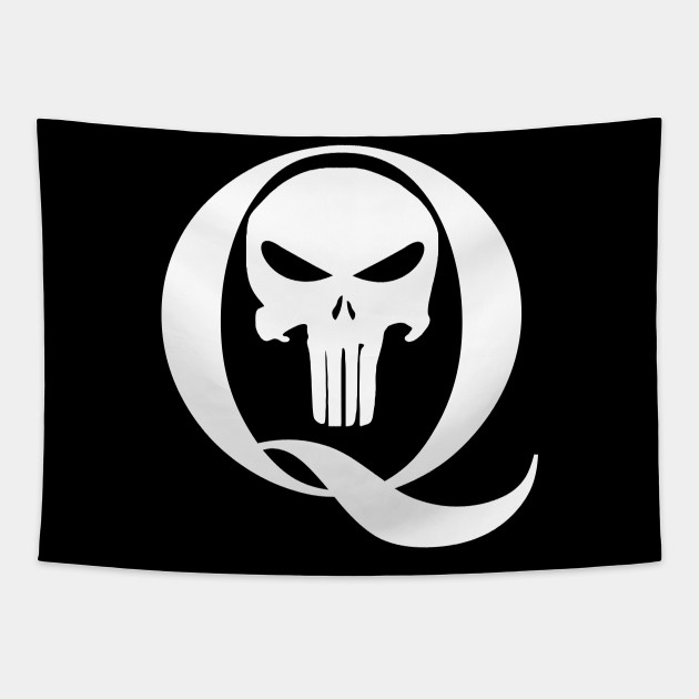 Qanon Q And Punisher Skull Qanon Tapestry Teepublic Au