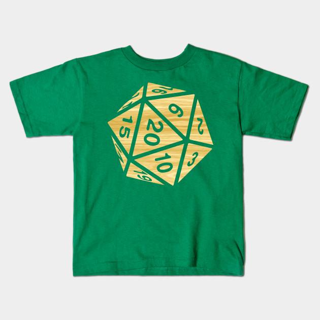 cb4ce714a RPG Dice Shirt d20 | Enchanted Woods Design Wood Grain Pattern Kids T-Shirt