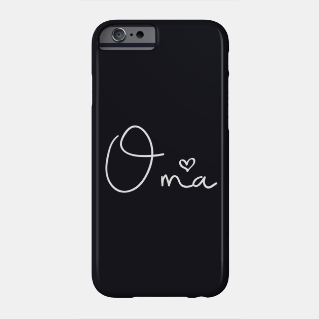 Oma For Grandma Women Christmas Mothers Day Gift Papa T Shirt Phone Case