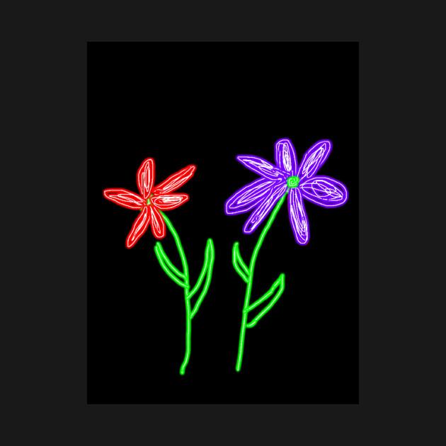 neon flowers flowers t shirt teepublic