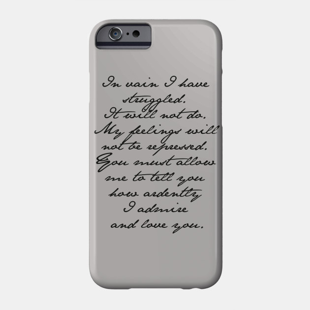 Elizabeth Bennet and Mr Darcy iphone 11 case