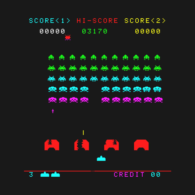 Colorful Space Invaders
