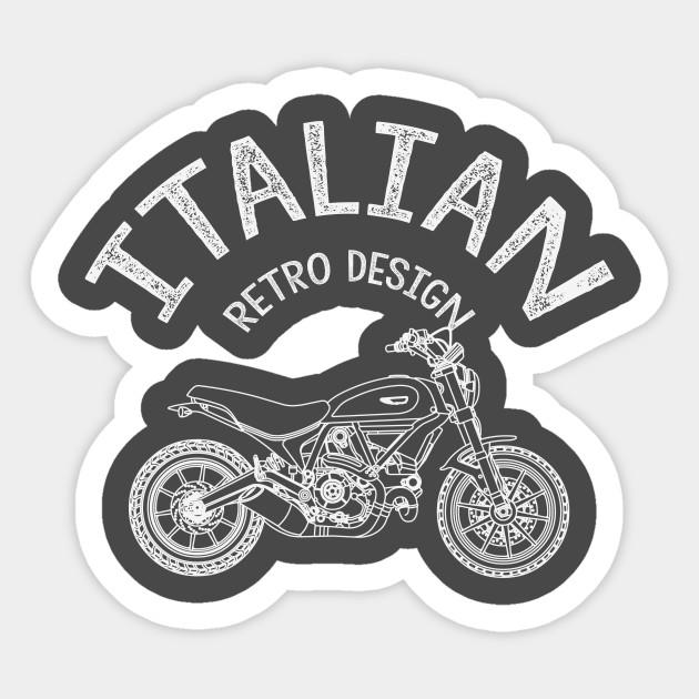 Italian Retro Design Motorcycle Ducati Sticker Teepublic