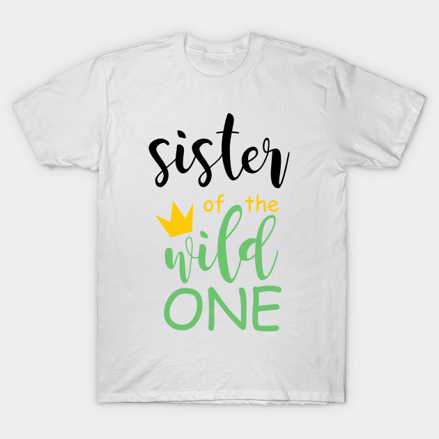 89434233 Brother Sister Wild One Matching Family Boho Birthday Shirts T-Shirt