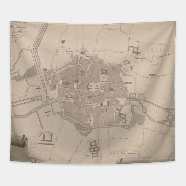 Map Of France Rennes.Vintage Map Of Rennes France 1829 Rennes France Tapestry