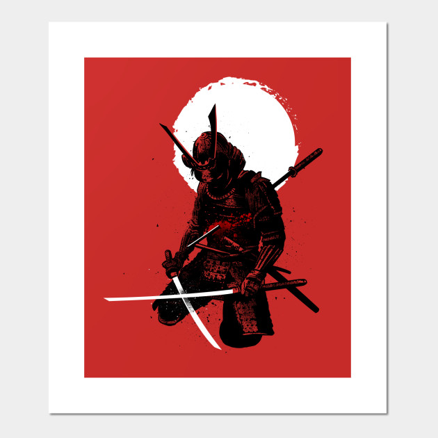 Samurai down - Samurai - Posters and Art Prints | TeePublic UK