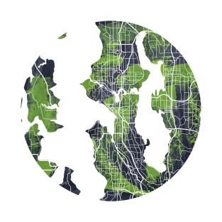 Seattle Map t-shirts