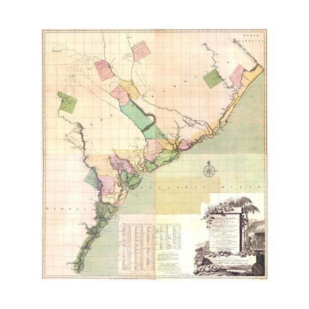 Vintage South Carolina Map.Vintage Map Of South Carolina 1757 South Carolina Map T Shirt