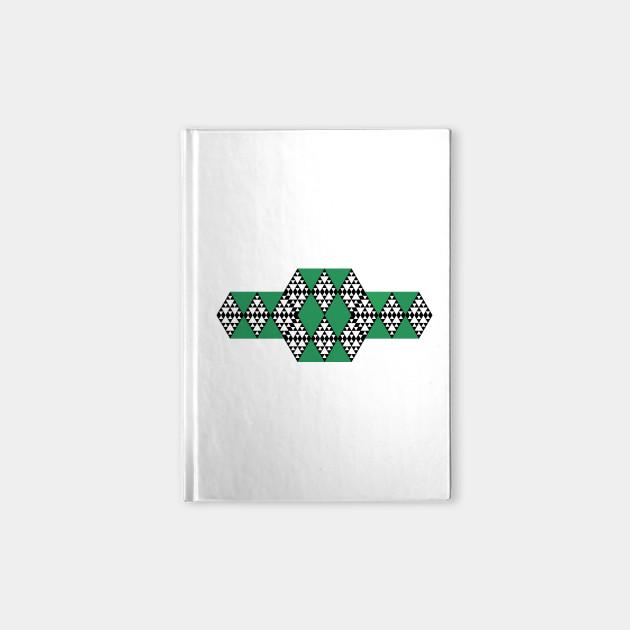 Triangle Symbol Green And Black Triangle Geometric Pattern