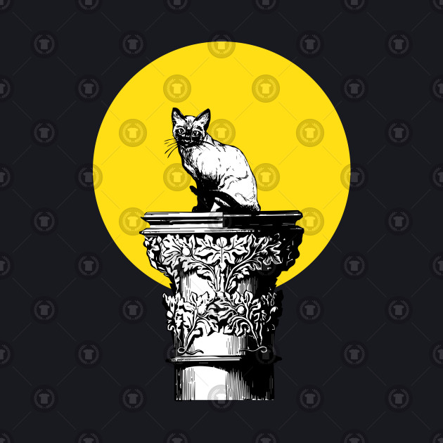 Cat Pussy On A Pedestal Funny Unisex Hooded Sweatshirt