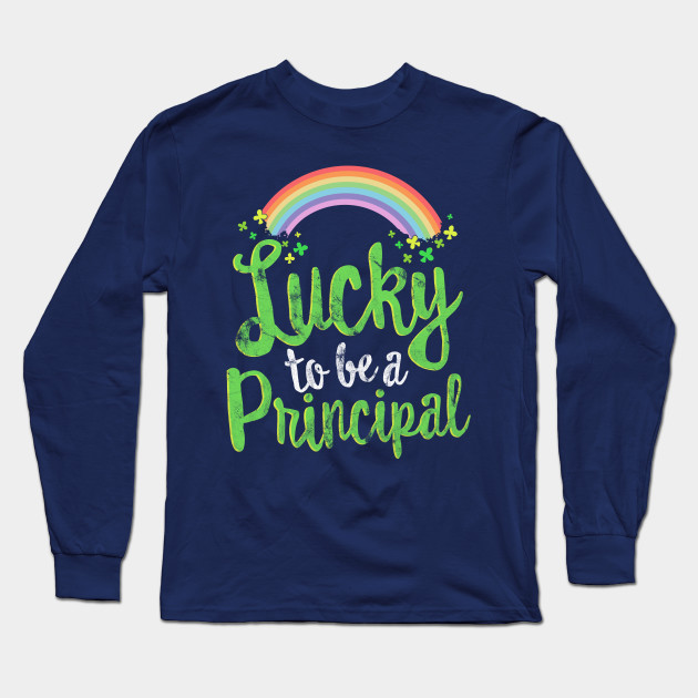 Lucky To Be A Librarian T-Shirt School St Patricks Day Gift Long Sleeve T-Shirt