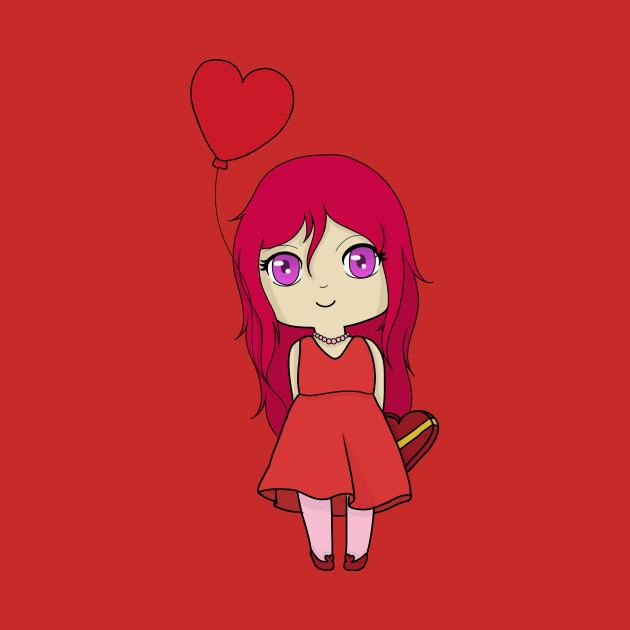 chibi valentine day gacha girl