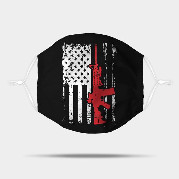 Patriotic Rifle Flag