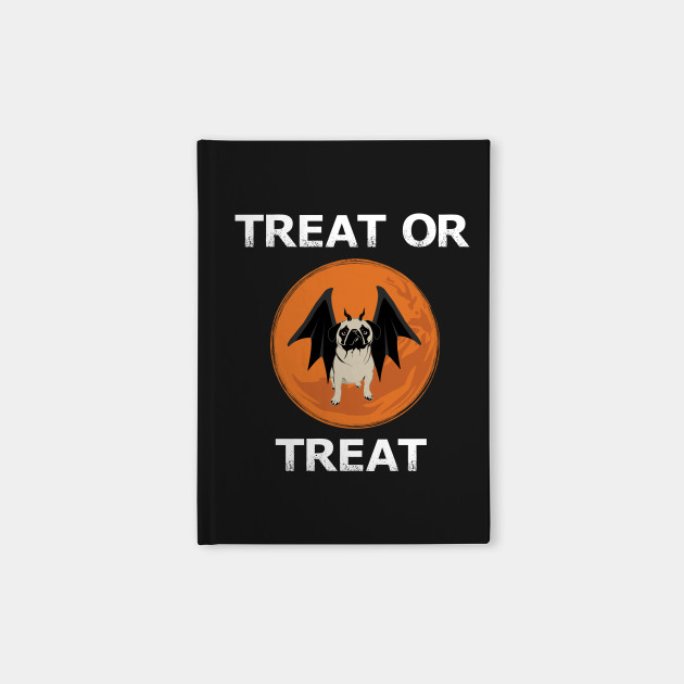 Treat or Treat Halloween Funny Pug Design for Dog Lovers