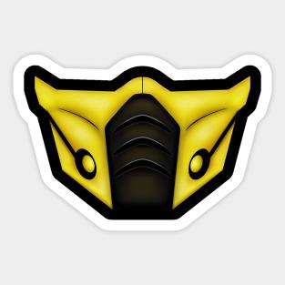 Mortal Kombat Scorpion Stickers Teepublic
