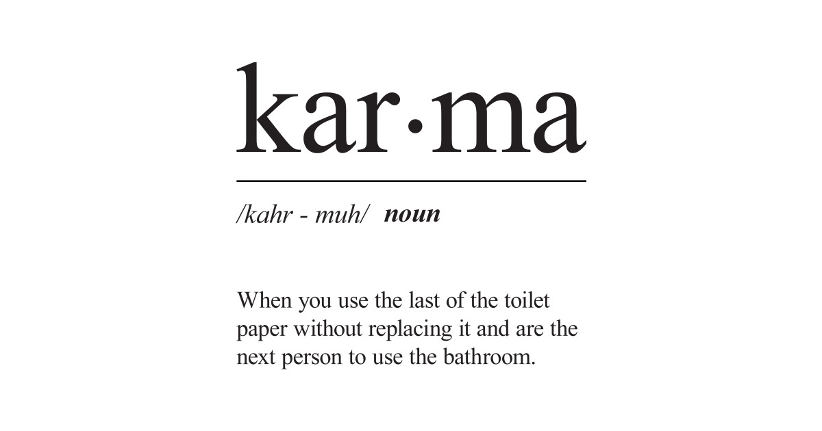 what does the word karma means