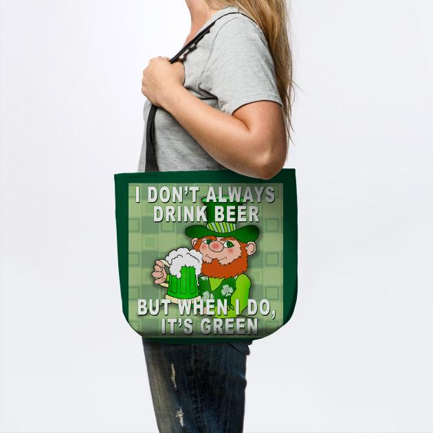 Funny Leprechaun Saying Green Beer