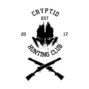 Cryptid Hunting Club (Black) t-shirts