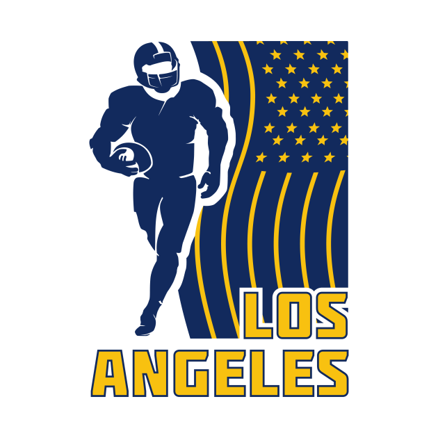 LOS ANGELES Football Team Color