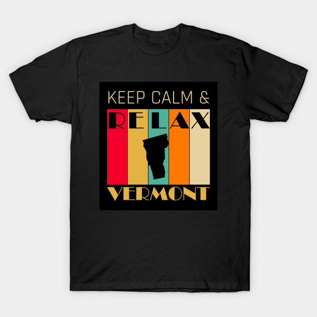 VERMONT - US STATE MAP - KEEP CALM & RELAX