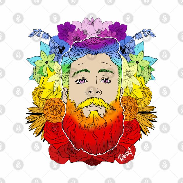 Bearded Floral Pride