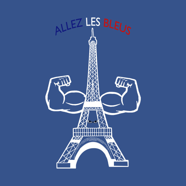 allez les bleus france national team france t shirt teepublic. Black Bedroom Furniture Sets. Home Design Ideas