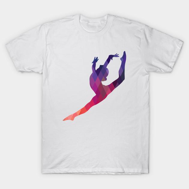 Leap silhouette gymnastics t shirt teepublic Gymnastics t shirt designs