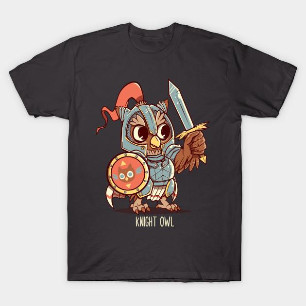 ae641a5c4 Knight Owl Animal Pun Shirt - Knight Owl - T-Shirt | TeePublic