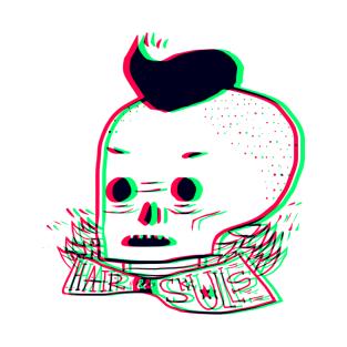 Hair skull t-shirts