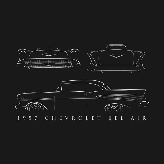 1957 Chevy Bel Air - composite stencil