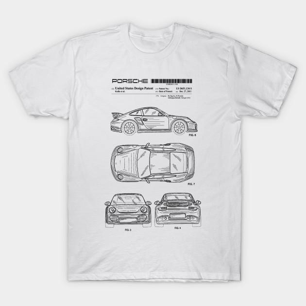 porsche 911 patent black porsche 911 t shirt teepublic. Black Bedroom Furniture Sets. Home Design Ideas
