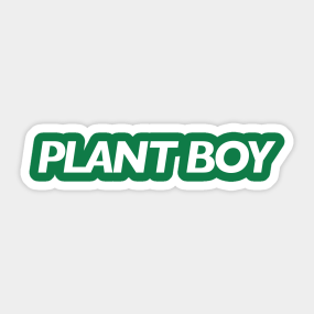 6f55e5e39 PLANT BOY (white type) Sticker
