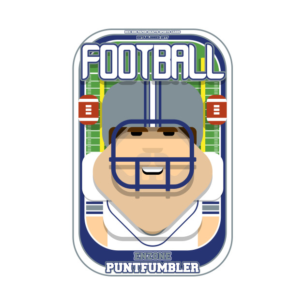 American Football White Silver Blue - Enzone Puntfumbler - Bob version