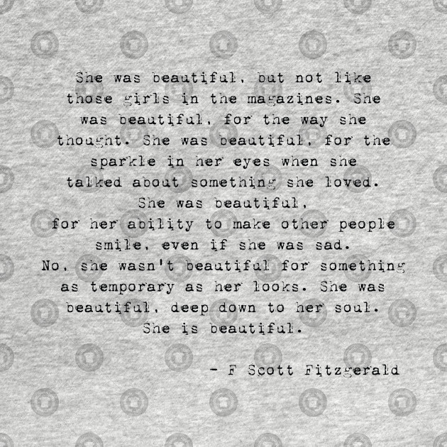 F Scott Fitzgerald Quote She Was Beautiful F Scott Fitzgerald