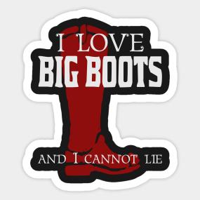 Firefighter Boot Shirt Sticker