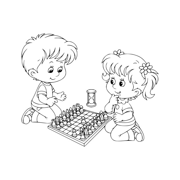 LIMITED EDITION. Exclusive Chess Coloring Book \\/ Dibujo Ajedrez ...