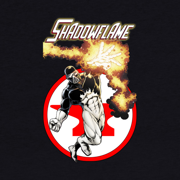 Shadowflame with Red Anvil Comics Logo