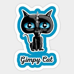 621193ee98f7 Gimpy Cat Sticker
