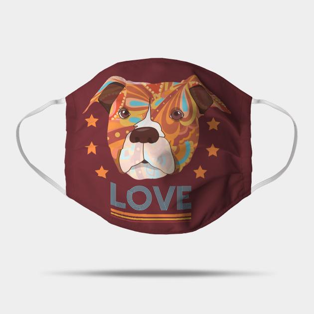 Pit Bull Terrier Head Love Dog