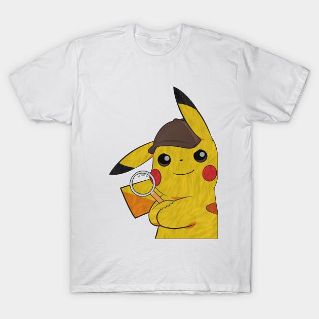 59c70934 Leaning Detective Pikachu - Pikachu - T-Shirt | TeePublic