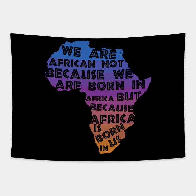 Africa  Is Born  In Us Sunset