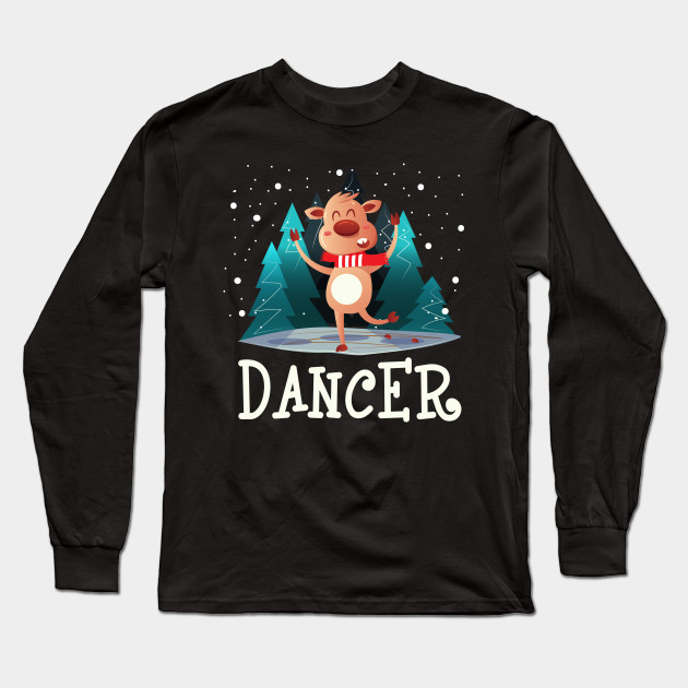 7690bf006 Ugly Christmas Sweaters Funny Reindeer Dancer Christmas Shirts Long Sleeve T -Shirt