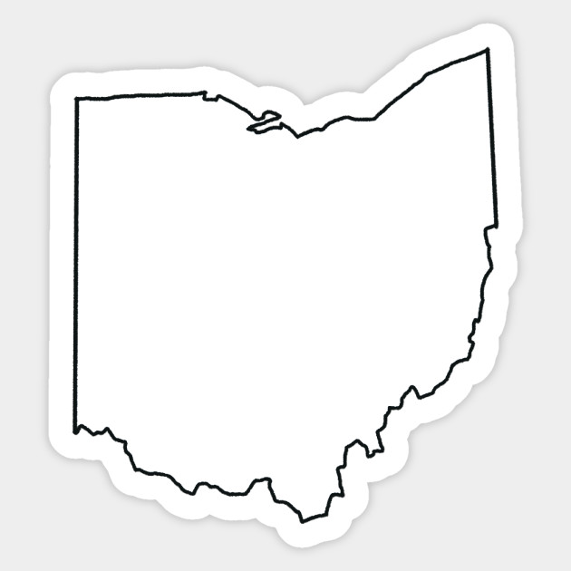 Ohio Blank Outline Ohio Sticker Teepublic