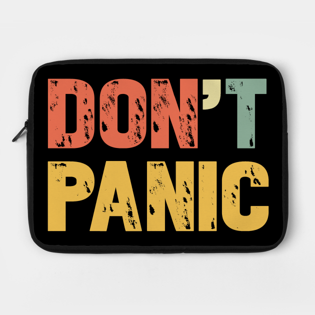 Vintage Don't Panic T-Shirt - Retro Colors Gift Tee