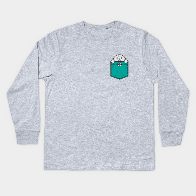 d4f77a92 Pocket Sea Lion - Sea Lion - Kids Long Sleeve T-Shirt | TeePublic