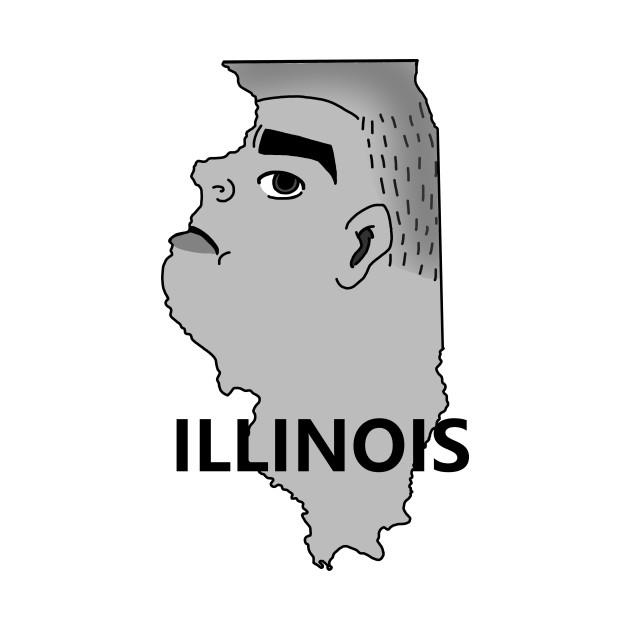 A funny map of Illinois 2
